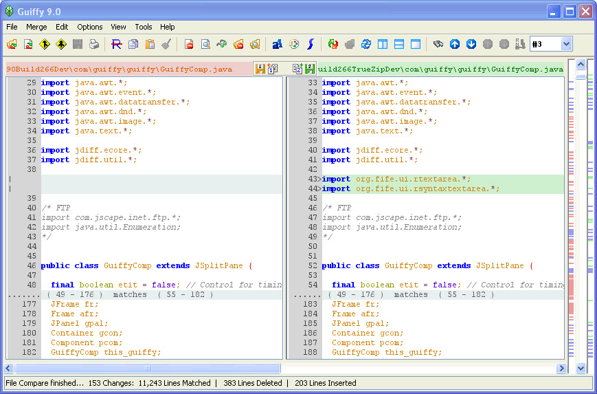 Guiffy for Mac and Linux full screenshot